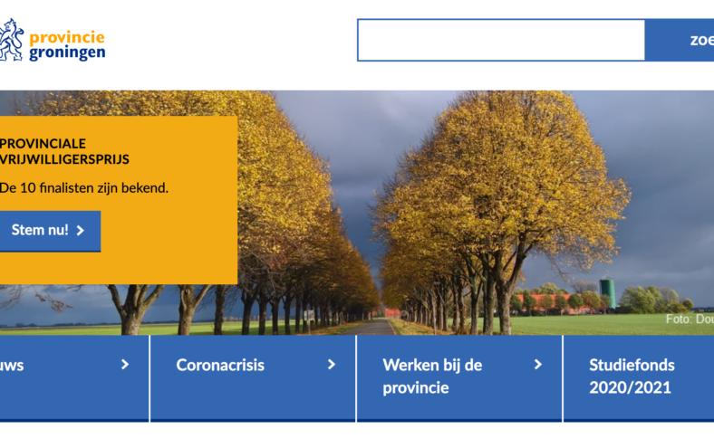 screenshot provincie groningen